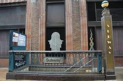 Staci Metru wejście przy Lexington aleją w Manhattan fotografia stock