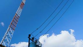 Stacja bazowa mobilna komórkowa komunikacja zbiory wideo