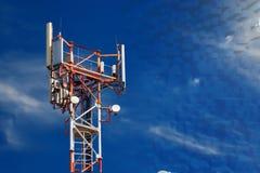 Stacja bazowa operator sieci 5G 4G, 3G wiszącej ozdoby technologie Obraz Royalty Free