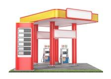 Stacja benzynowa odizolowywająca na białym tle Fotografia Stock