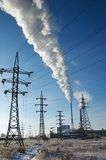 stacja energii elektrycznej Zdjęcia Royalty Free