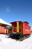 stacja historyczny pociąg Fotografia Royalty Free