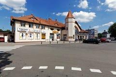Stacja kolejowa budynek w Kolobrzeg w Polska Zdjęcia Stock