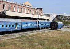 Stacja kolejowa filmu set Zdjęcia Royalty Free