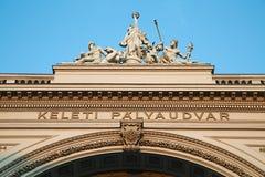 Stacja kolejowa Keleti w Budapest Zdjęcia Royalty Free