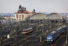 Stacja kolejowa, Praga fotografia royalty free