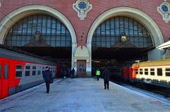 Stacja kolejowa, Rosja, Moskwa, Kazan stacja zwyczajny dzień Obrazy Royalty Free