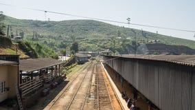 Stacja kolejowa w Asia HATTON, SRI LANKA - OKOŁO STYCZEŃ 15 2017 Zdjęcie Stock