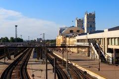 Stacja kolejowa w Kharkiv, Ukraina zdjęcia royalty free