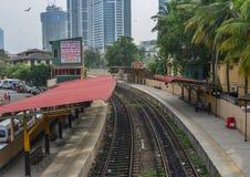 Stacja kolejowa w Kolombo, Sri Lanka fotografia stock