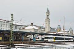 Stacja kolejowa w Niemieckim miasteczku zdjęcie royalty free