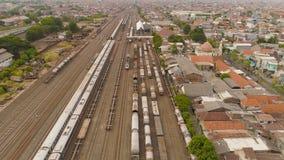 Stacja kolejowa w Surabaya Indonezja obrazy stock