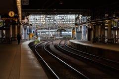 Stacja kolejowa w Sztokholm Szwecja zdjęcie stock