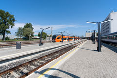 Stacja kolejowa w Tallinn, Estonia Zdjęcia Royalty Free
