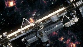 Stacja Kosmiczna kosmos ilustracja wektor