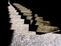 Stacja kroki Kamień kroczy abstrakcjonistycznego tło Obrazy Stock