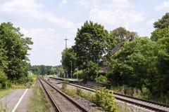 stacja mały pociąg Fotografia Royalty Free