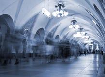 stacja metra pod ziemią Zdjęcia Stock