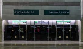 Stacja metra w Singapur fotografia royalty free