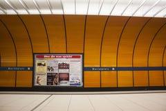 Stacja Metru Marienplatz Monachium, Niemcy - 20 12 2015 Obrazy Stock
