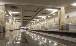 Stacja metru Partizanskaya w Moskwa, Rosja Ja otwierał w 18 01 1944 Obraz Stock