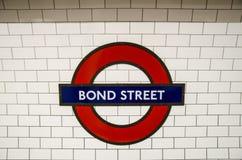 Londyńska stacja metru Zdjęcia Stock