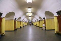 Stacja metru Rizhskaya w Moskwa, Rosja Ja otwierał w 01 05 1958 Obrazy Royalty Free