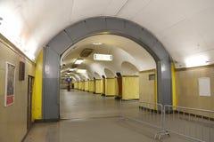 Stacja metru Rizhskaya w Moskwa, Rosja Ja otwierał w 01 05 1958 Obrazy Stock