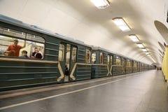 Stacja metru Rizhskaya w Moskwa, Rosja Ja otwierał w 01 05 1958 Zdjęcie Stock