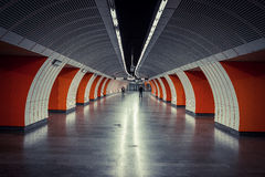 Stacja metru tunelu centrala Fotografia Royalty Free