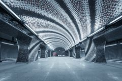 Stacja metru w dużym mieście Zdjęcie Royalty Free