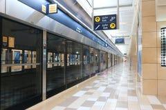 Stacja Metru w Dubaj, UAE obrazy stock