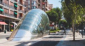 Stacja metru w mieście Bilbao, Hiszpania Obraz Royalty Free