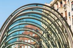 Stacja metru w mieście Bilbao, Hiszpania Fotografia Stock