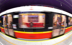 Stacja metru w Warszawa, Polska Zdjęcie Royalty Free