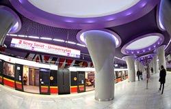 Stacja metru w Warszawa, Polska Fotografia Royalty Free