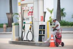 Stacja paliwowa, Kambodża Zdjęcie Royalty Free