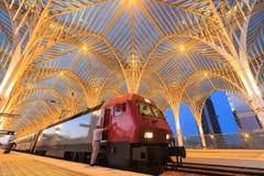 Stacja projektuje światowym sławnym architektem Santiago Calat Zdjęcia Stock