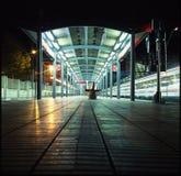 stacja samotny pociąg Obraz Royalty Free