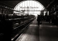 stacja stary pociąg fotografia stock