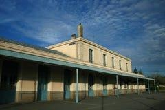 stacja stary pociąg Zdjęcia Royalty Free