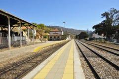 stacja stary pociąg Obraz Stock