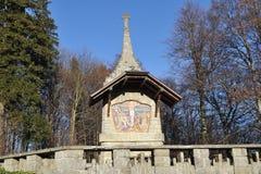 Stacje krzyż w jesieni Obraz Royalty Free