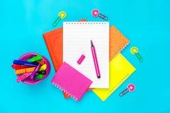 Stacjonarny szkoła, lato czas, twórczość i edukaci pojęcie, z powrotem, dostawy Fotografia Stock