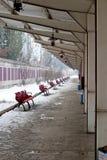stacjonuje pociąg Zdjęcia Stock
