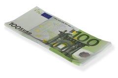 Stack of 100€ bills Royalty Free Stock Photos