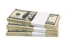Stack of $100 bills Royalty Free Stock Photos