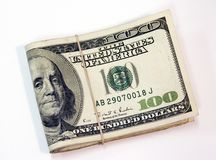 Stack of 100 Bills Royalty Free Stock Image