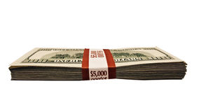 Stack of 100 dollar bills Royalty Free Stock Photos
