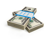 Stack of 100 us bills Royalty Free Stock Image